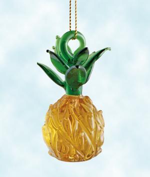 Glass Pineapple Ornament
