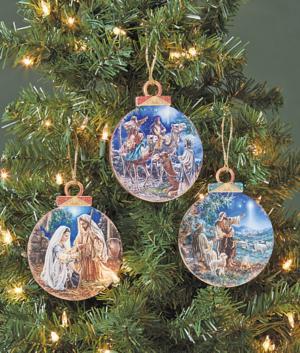 Nativity Art Ornament - Holy Family