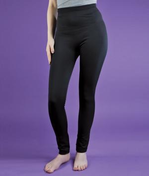 Plush-Lined Black Leggings - Small/Medium