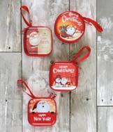 Holiday Coin Purse - Santa Wishing You