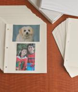Ring Binder Photo Sheets - Set of 50