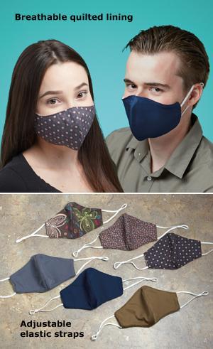 Set of 3 Reusable Face Masks - Patterned