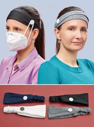 Mask Holder Headband - Black
