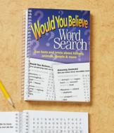 Would You Believe Word Search Book