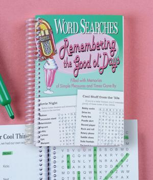 Remembering the Good ol' Days Word Search Book