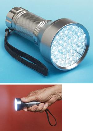 Compact 42-LED Flashlight