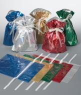 Holographic Gift Bags with Cards - Set of 10
