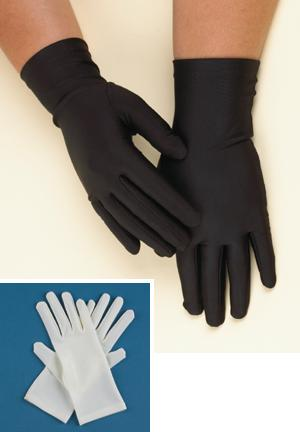 Nylon/Spandex Blend Arthritis Gloves - White