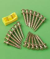 Bear Claw Picture Hanging Screws - Pack of 20
