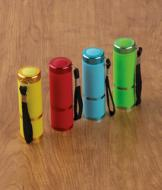 Compact 9-LED Flashlights - Set of 4