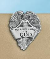 This Vehicle Guided by GOD Angel Visor Clip