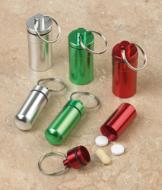 Large Metal Pill Fobs - Set of 3