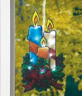 Lighted Window Candle