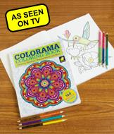 Colorama Coloring Book with Colored Pencils