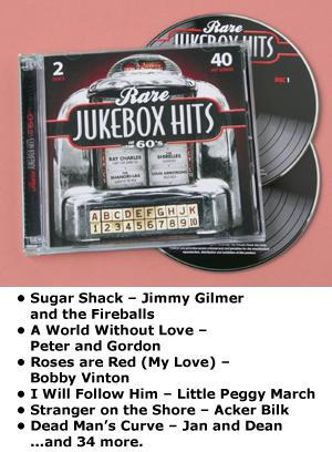 Rare Jukebox Hits of the 60's - 2-CD Set