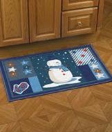Snowman Patchwork Rug