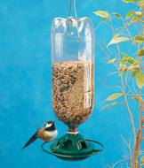 Bottle-Recycling Bird Feeder