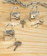 Indoor/Outdoor Padlock Trio