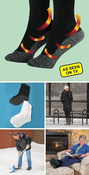 Black 35 Degree Below Socks - 2-Pair Small/Medium