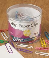 Jumbo Coated Paper Clips - Supply of 200