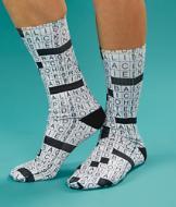 Crossword Puzzle Socks