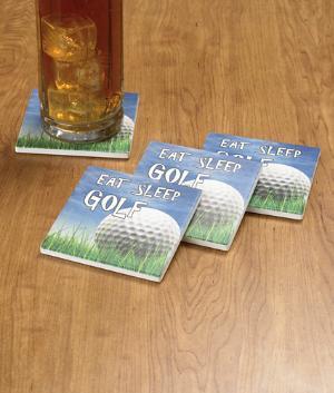 Eat. Sleep. Golf. Coasters - Set of 4