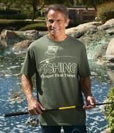 Fishing: Cheaper than Therapy Tee