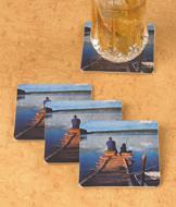 Fishing Dock Coasters - Set of 4