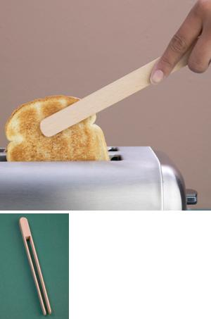Beechwood Toaster Tongs
