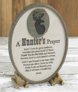 Hunter's Prayer Plaque