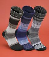 Men's Striped Dress Socks - Pack of 3 Pairs
