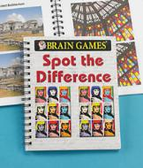 Brain Games Spot the Difference Puzzle Book