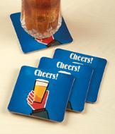 Cheers! Coasters - Set of 4