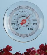 Suction-Mount Window Thermometer