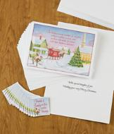 Friends and Family Christmas Cards with Magnets - Set of 18