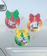 Christmas Ornament Magnets - Set of 3