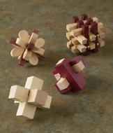 Wooden Brainteasers - Set of 4