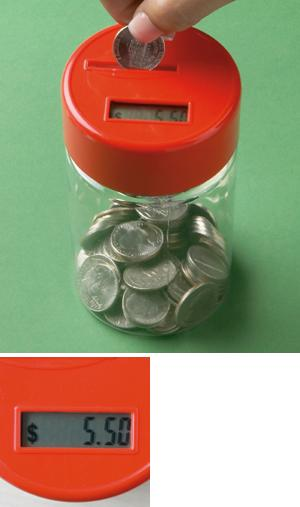 Coin-Counting Bank with Digital Screen