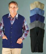 Men's Sweater Vest - Tan