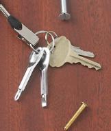 Key Ring Screwdrivers - Silvertone Set