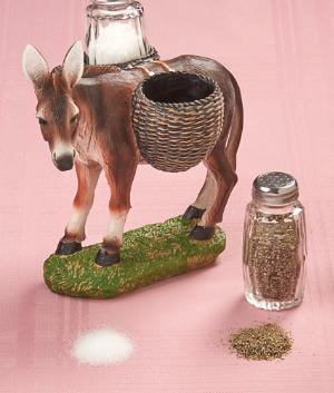 Donkey Salt and Pepper Holder