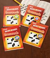 Best Ever Crossword Books - Set of 4