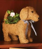 Dog Topiary Planter