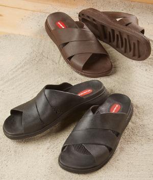 Massaging Support Sandals - Brown/A Pair