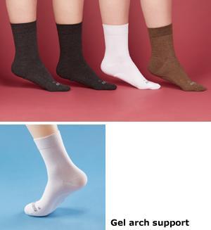 Gel Insole Socks - White/A Pair