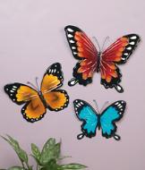 Butterfly Wall Art - 3-Pc. Set