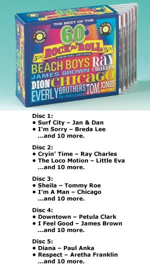 Best of the '60s Rock 'N' Roll - 5-CD Set
