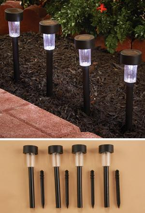 Solar Garden Lights - Set of 4