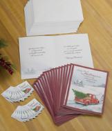 Truck 'N' Tree Christmas Cards and Magnets - The 54-pc. Set