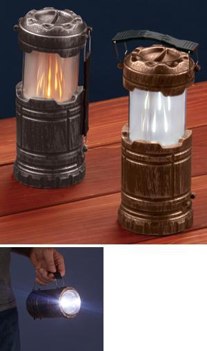 Flicker Flame Pop-Up Lantern - Goldtone